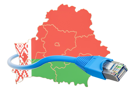 Internet connection in Belarus concept. 3D rendering isolated on white background