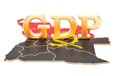 gross domestic product GDP of Angola concept, 3D rendering isolated on white background