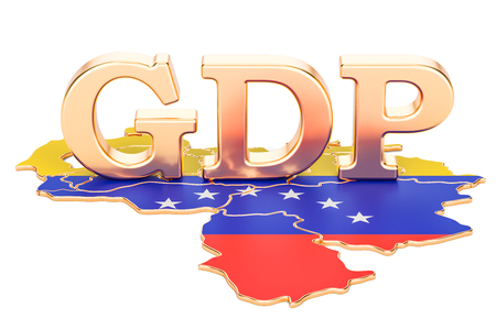 gross domestic product GDP of Venezuela concept, 3D rendering isolated on white background