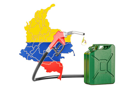Production and trade of petrol in Colombia, concept. 3D rendering Stock Photo