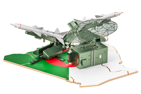 Algerian missile defence system concept, 3D rendering Stock Photo