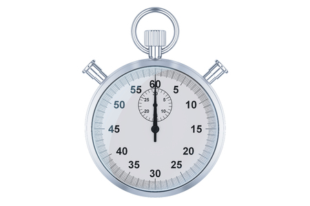 Stopwatch, 3D rendering isolated on white background