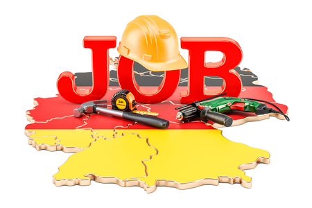 Job Vacancies in Germany concept, 3D rendering isolated on white background Reklamní fotografie