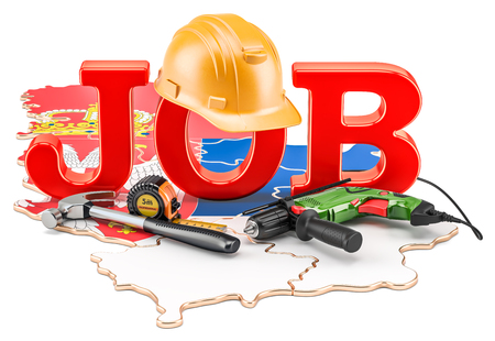 Job Vacancies in Serbia concept, 3D rendering isolated on white background
