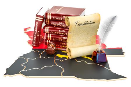 Constitution of Angola concept, 3D rendering Standard-Bild - 95423566