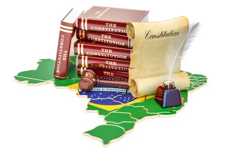Constitution of Brazil concept, 3D rendering