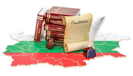 Constitution of Bulgaria concept, 3D rendering