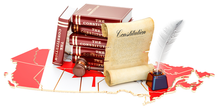 Constitution of Canada concept, 3D rendering