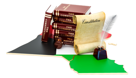 Constitution of Kuwait concept, 3D rendering