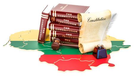 Verfassung von Litauen . 3D-Rendering Standard-Bild - 95423587