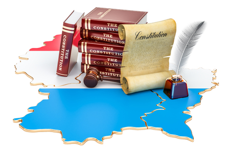 Constitution of Luxembourg concept, 3D rendering Stock Photo