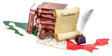Constitution of Mexico concept, 3D rendering 写真素材