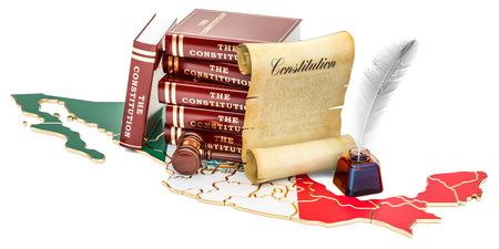 Constitution of Mexico concept, 3D rendering Foto de archivo