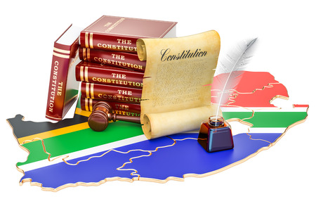 Constitution of South Africa concept, 3D rendering Standard-Bild - 95423594