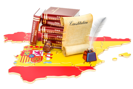 Constitution of Spain concept, 3D rendering