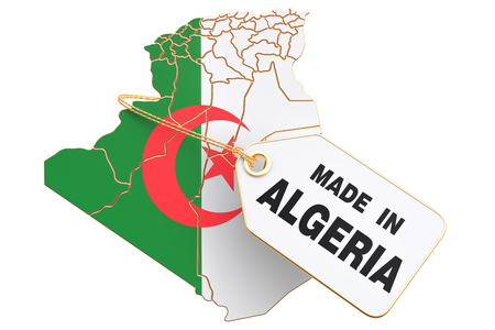Made in Algeria concept, 3D rendering isolated on white background