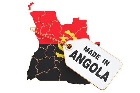 Made in Angola concept, 3D rendering isolated on white background
