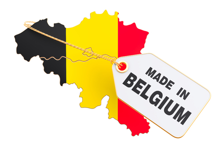 Made in Belgium concept, 3D rendering isolated on white background Stock Photo