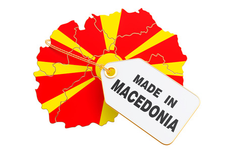 Made in Macedonia concept, 3D rendering isolated on white background