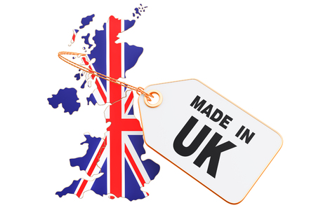 Made in United Kingdom concept, 3D rendering isolated on white background