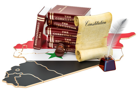 Constitution of Syria concept, 3D rendering Stock Photo
