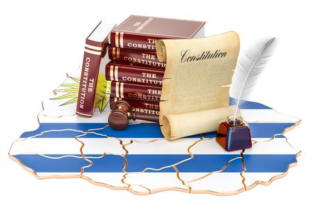 Constitution of Uruguay concept, 3D rendering Standard-Bild - 95689746