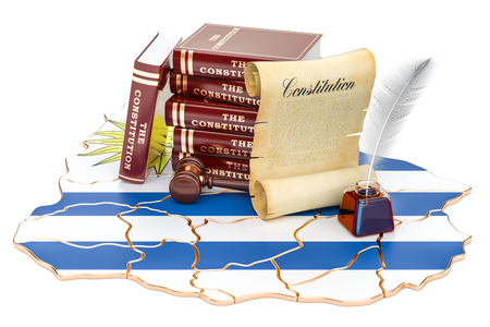 Constitution of Uruguay concept, 3D rendering Stock Photo