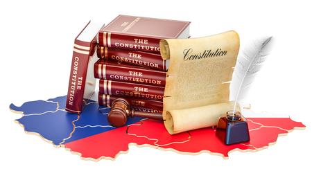 Constitution of Czech Republic concept, 3D rendering Standard-Bild - 95689853