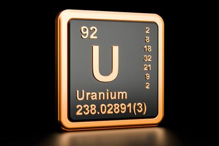 Uranium Symbol U Chemical Element Of The Periodic Table Stock