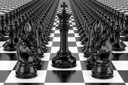Chess, strategy concept. 3D rendering