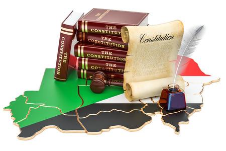 Constitution of Sudan concept, 3D rendering