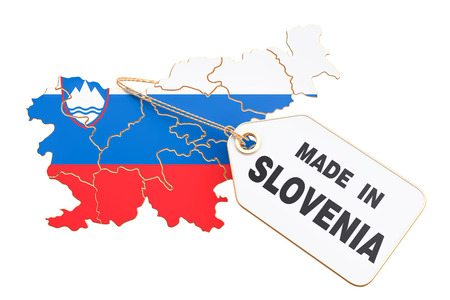Made in Slovenia concept, 3D rendering isolated on white background Stock Photo