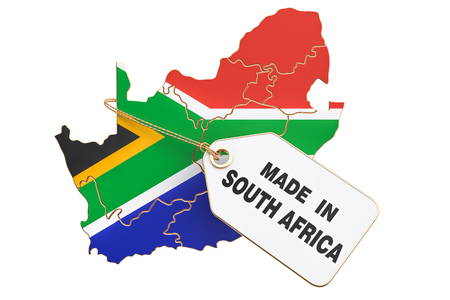 Made in South Africa concept, 3D rendering isolated on white background Archivio Fotografico - 96307197