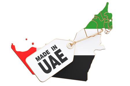 Made in United Arab Emirates concept, 3D rendering isolated on white background