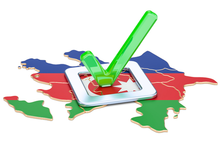 Azerbaijan election concept, vote in Azerbaijan, 3D rendering isolated on white background