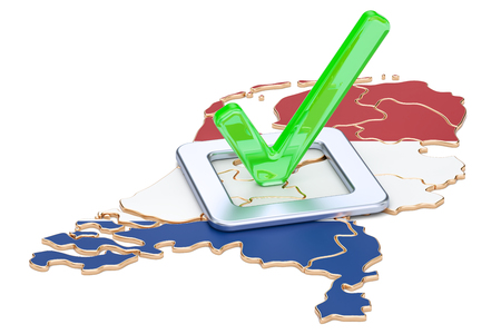 Holland election concept, vote in the Netherlands, 3D rendering isolated on white background