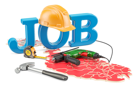 Job Vacancies in Malta concept, 3D rendering isolated on white background