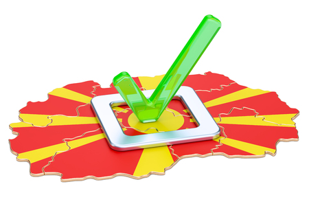 Macedonian election concept, vote in Macedonia, 3D rendering isolated on white background