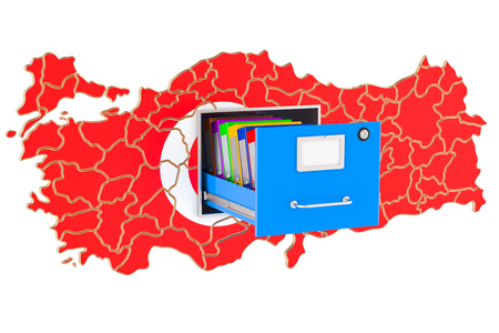 Turkish national database concept, 3D rendering isolated on white background  Stock Photo
