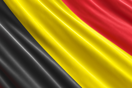 Belgian flag background, 3D rendering
