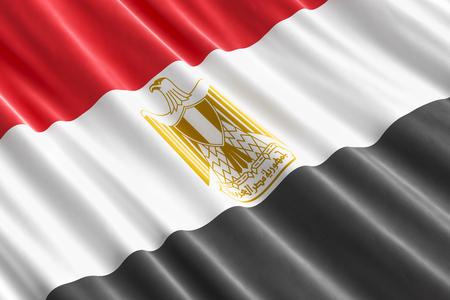 Egyptian flag background, 3D rendering  Stock Photo