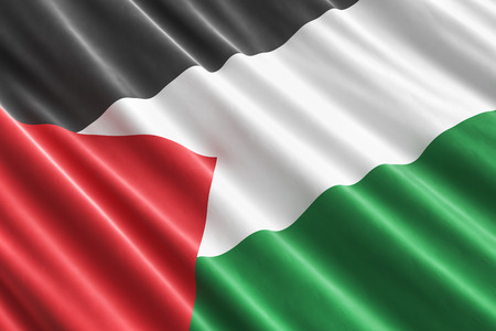 Palestinian flag background, 3D rendering