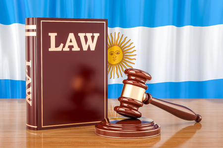 Argentinean law and justice concept, 3D rendering