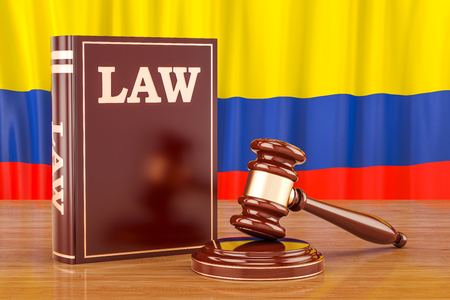 Colombian law and justice concept, 3D rendering Stock Photo