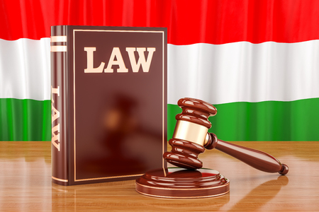 Hungarian law and justice concept, 3D rendering