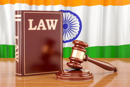Indian law and justice concept, 3D rendering