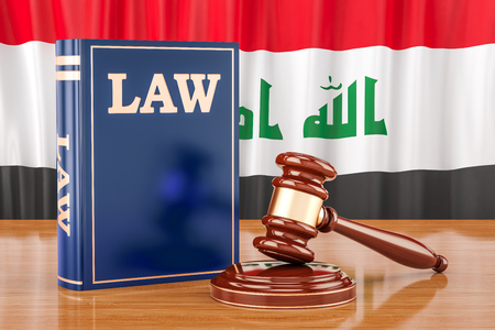 Iraqi law and justice concept, 3D rendering Stock Photo