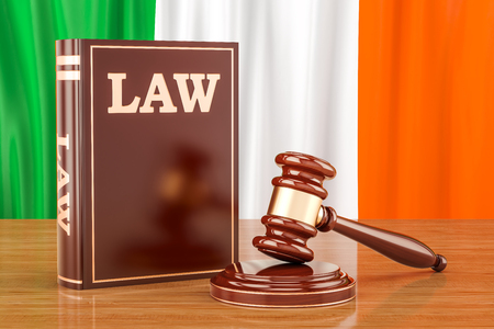 Irish law and justice concept, 3D rendering Stock Photo
