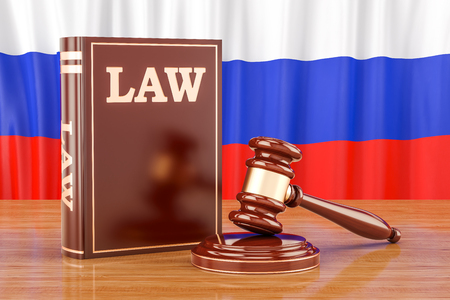 Russian law and justice concept, 3D rendering