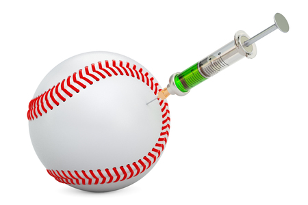 Doping cases in baseball concept, 3d rendering  Stock Photo